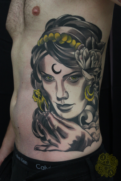 goddess sidepiece by justin acca