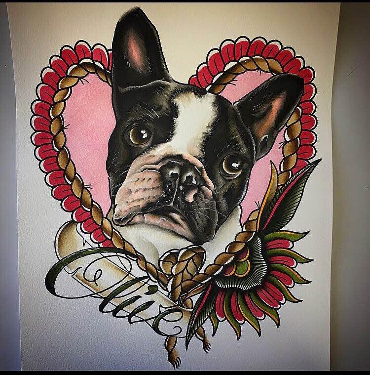 cute dog portrait by brendan courts